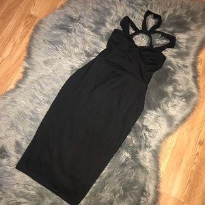 Boohoo Strappy Bodycon Dress